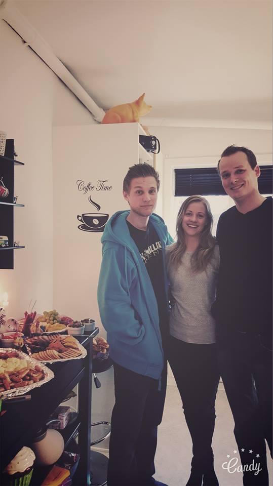 Mig, min bror og min mand! <3