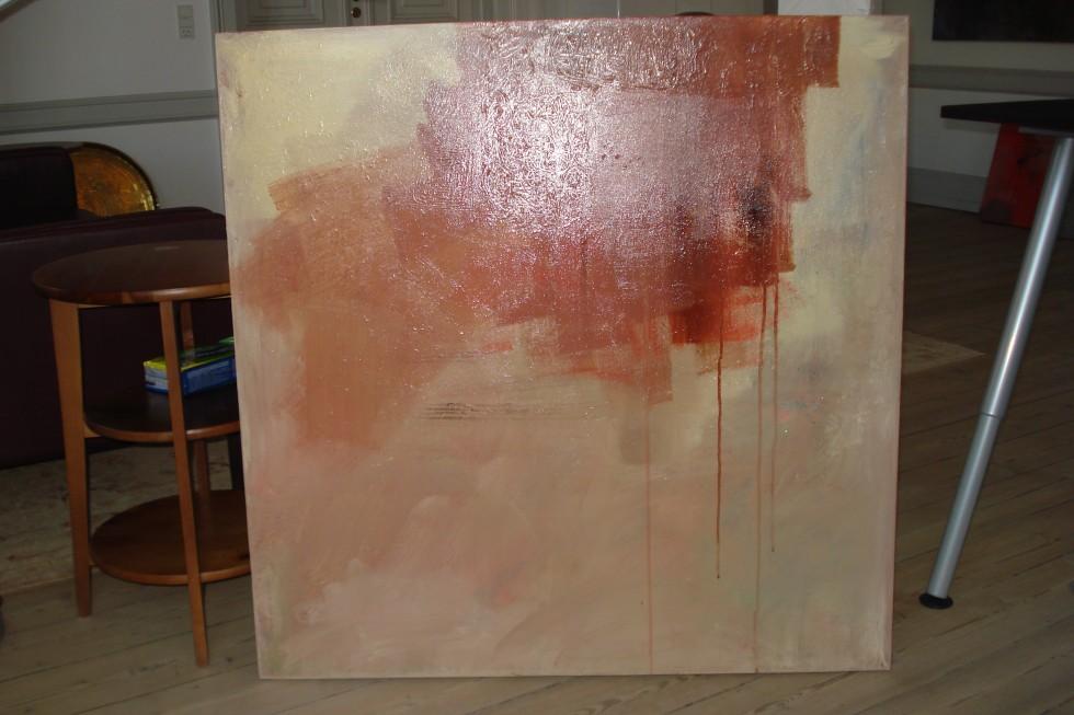 Sky, marts 2013, acryl på lærred, 100x100 cm, pris kr. 1.700