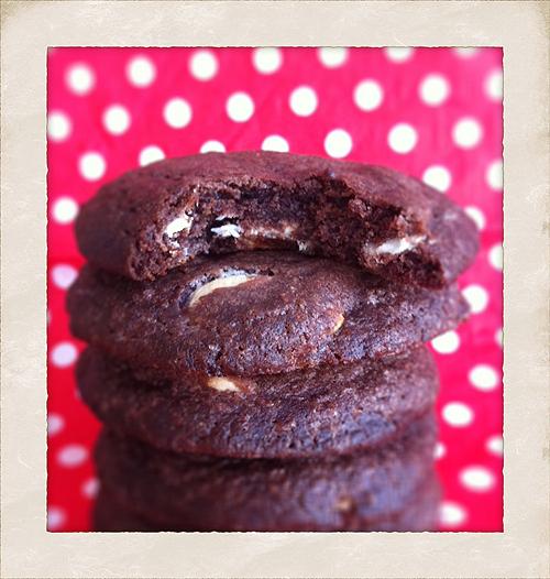 Choko cookies med peanutbutter og hvid chokolade - Cute CarbsCute Carbs