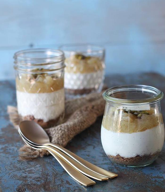 cheesecake i glas uden husblas