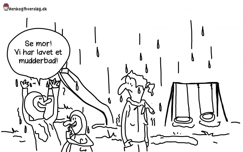 Legeplads i regnvejr