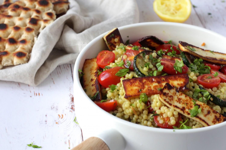 Couscous salat med halloumi og squash