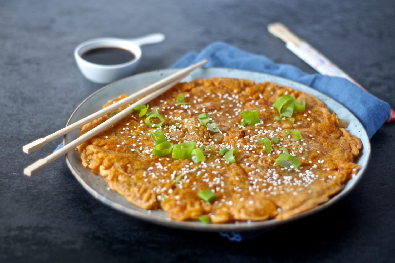 Koreansk kimchi pandekage