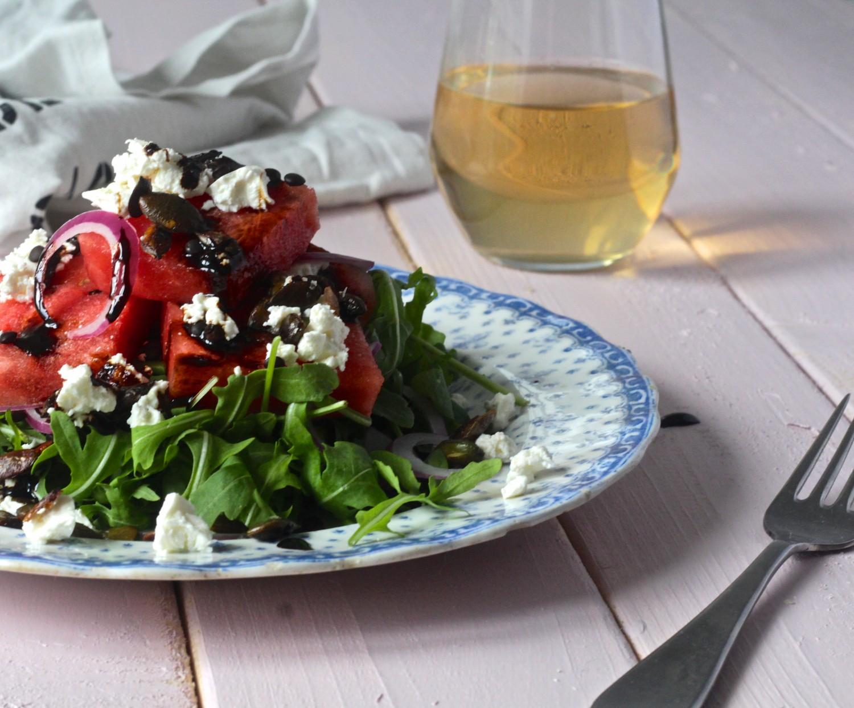 Vandmelonssalat med linser