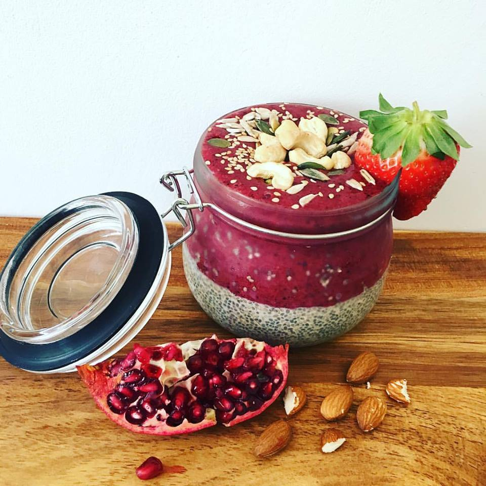 Chiapudding og smoothie bowl ;)