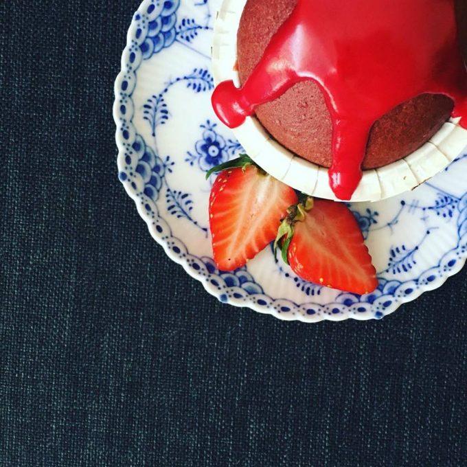 """Djævelske røde muffins - """"red velvet cupcakes"""""""