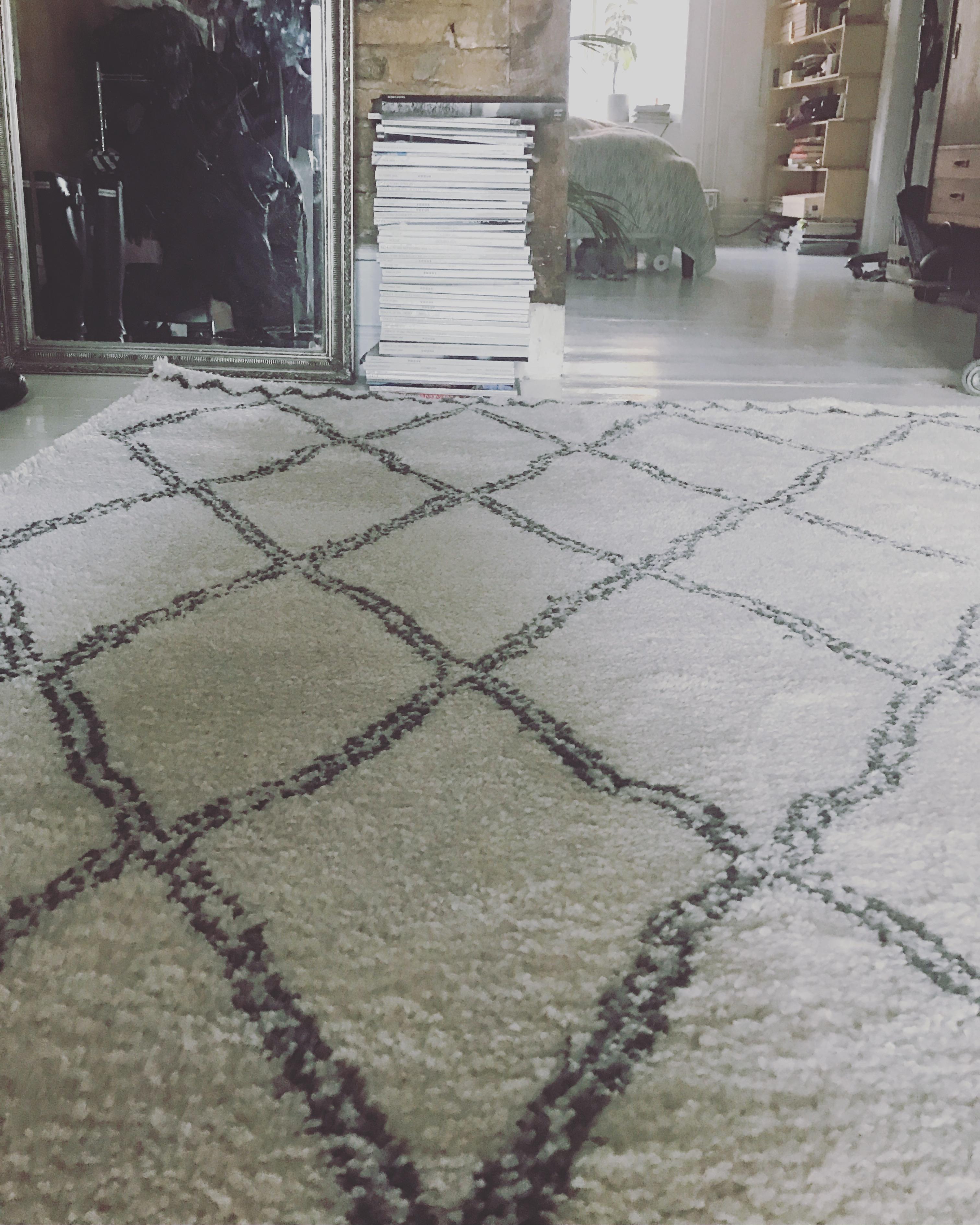 langhåret gulvtæppe