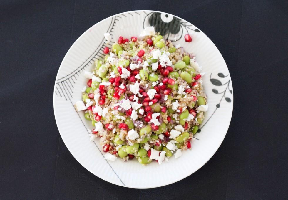 salat-med-quina-granatæble-feta