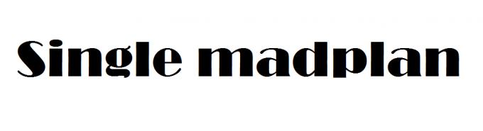 single-madplan