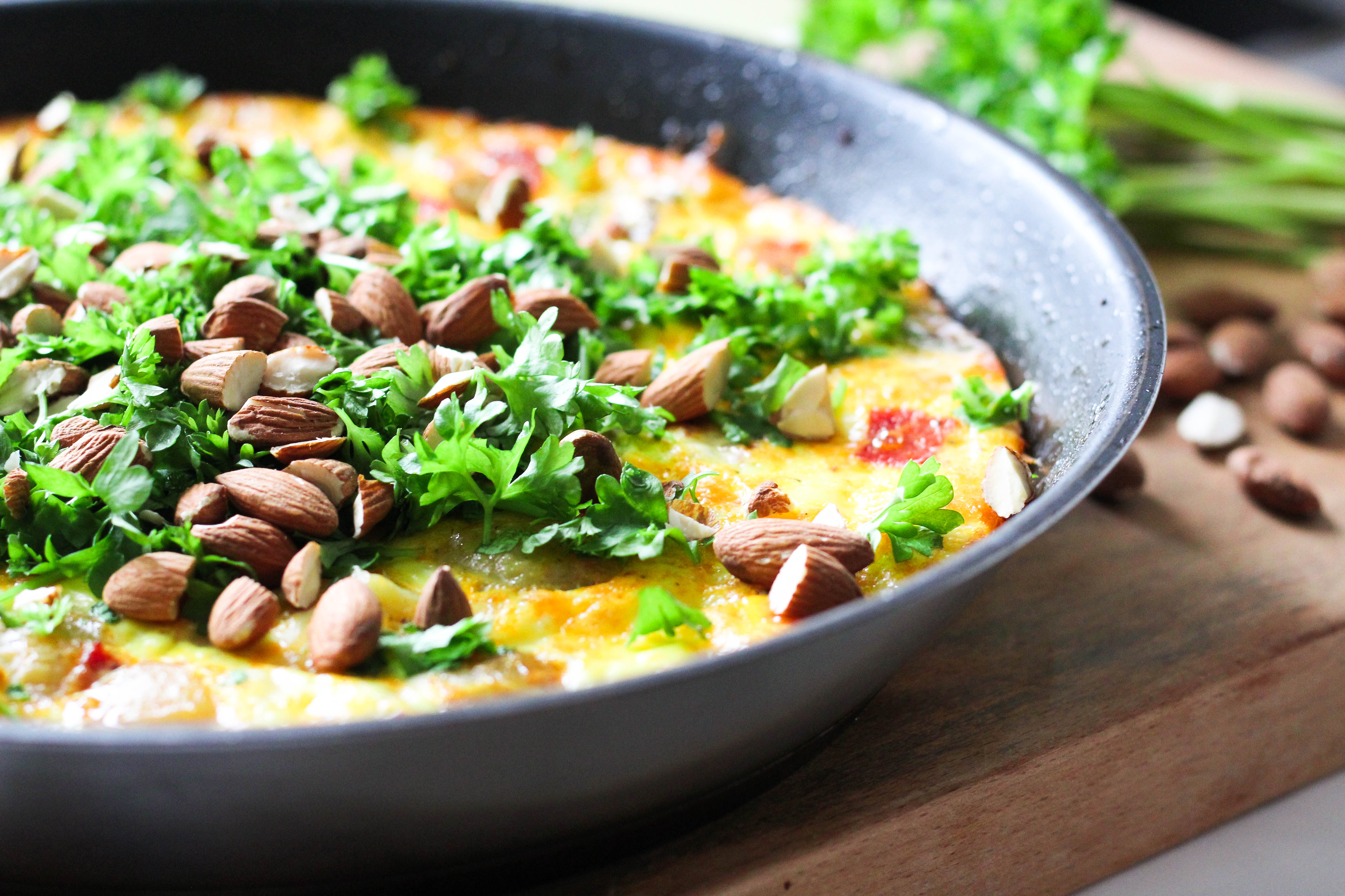 tortilla med kartofler og chorizo