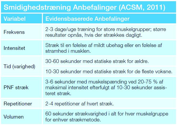 ACSM_anbefalinger_smidighed_straek