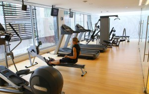Lisboa hotel gym row