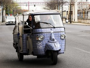 Lisboa tuktuk with tiles