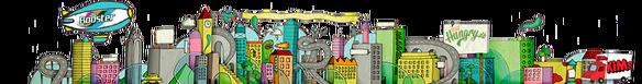 Motion og mennesker portal Boblberg skyline