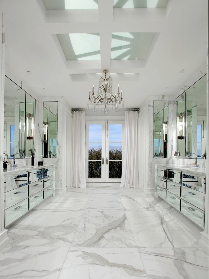 Marvelous marble bathroom decor my home in the city for Marble master bathroom