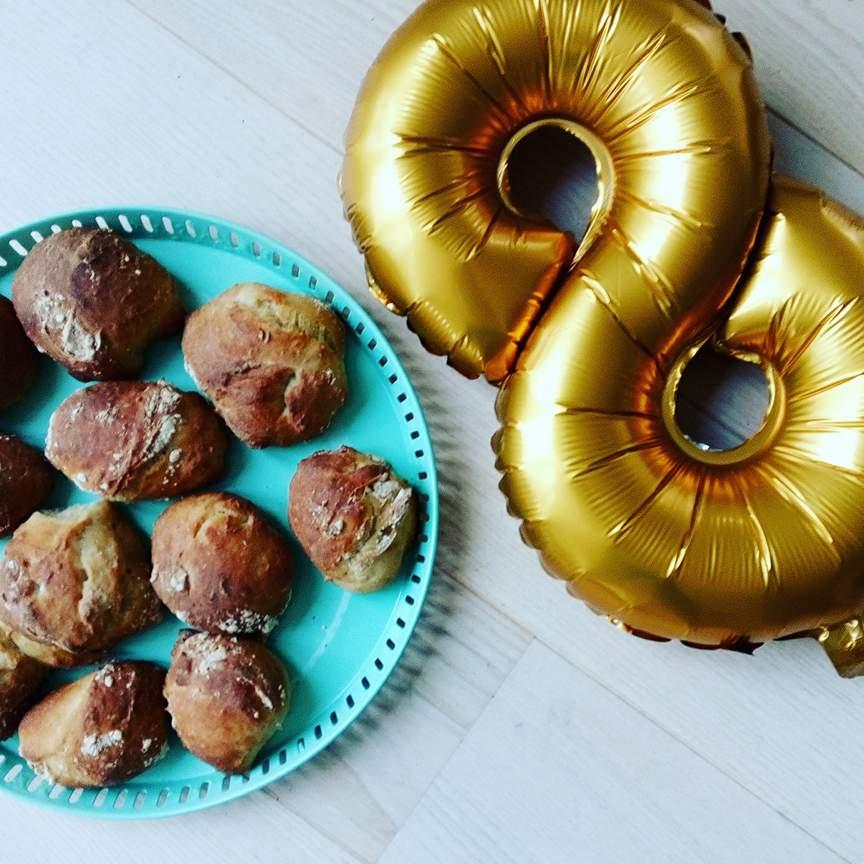 opskrift sunde fødselsdagsboller uden sukker