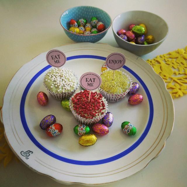 god påske, påske cupcakes, muffins