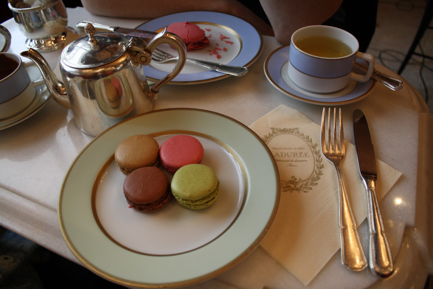 Laduree Paris Macarons tea