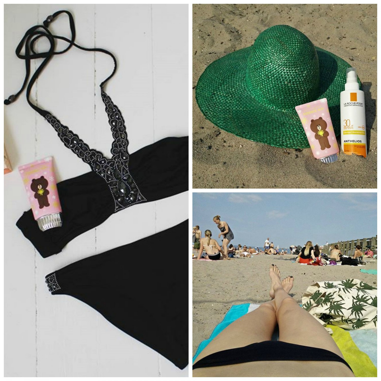 svanemøllen strand, solcreme, ganni, koreanske skønhedsprodukter, k-beauty