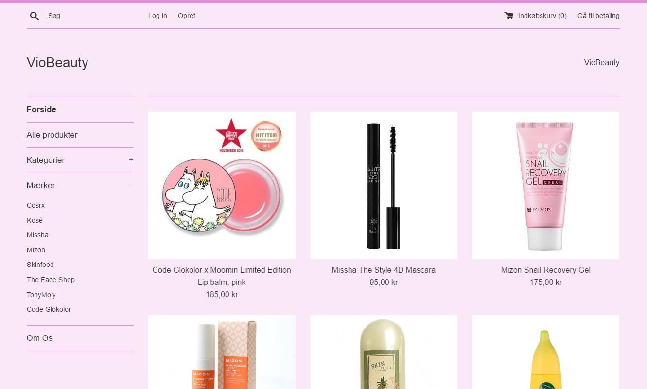 viobeauty.dk, k-beauty, koreansk skønhedspleje, mizon, skinfood, missha