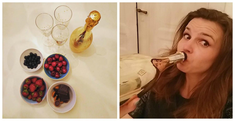 fejring af viobeauty, guld, bobler
