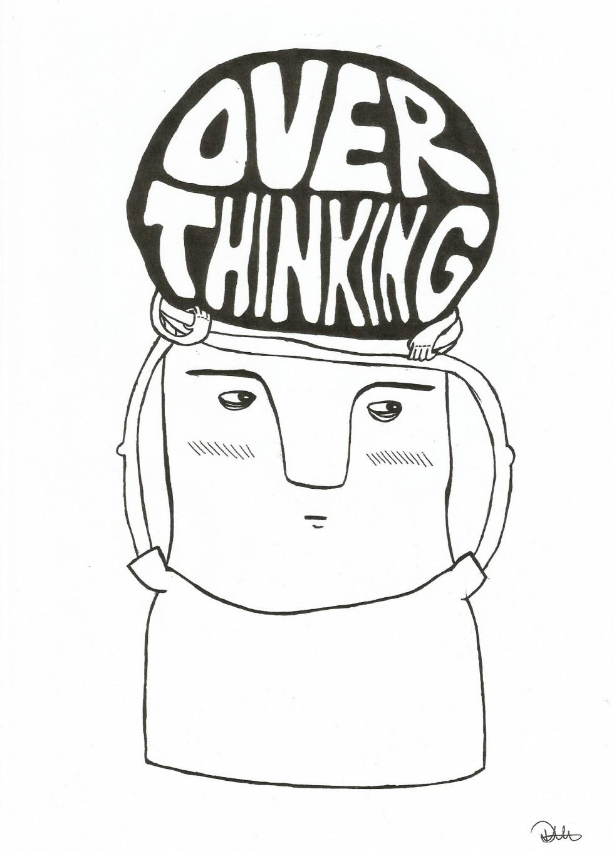 En mand, der kom ud af min kuglepen og meget præcist illustrerer tilstanden i mit hoved.