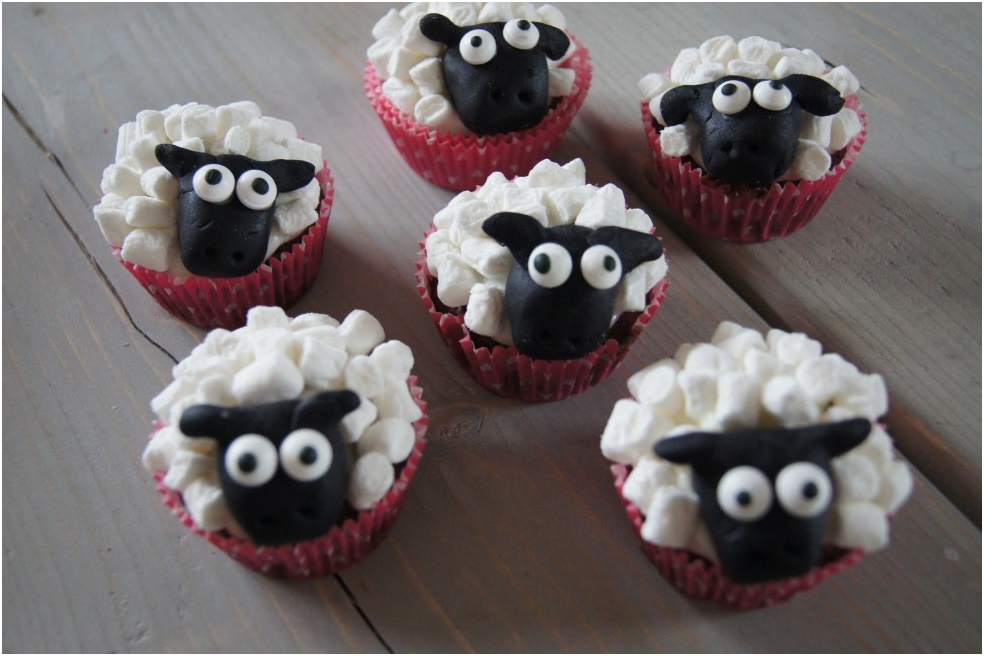 muffin får med mini skumfiduser