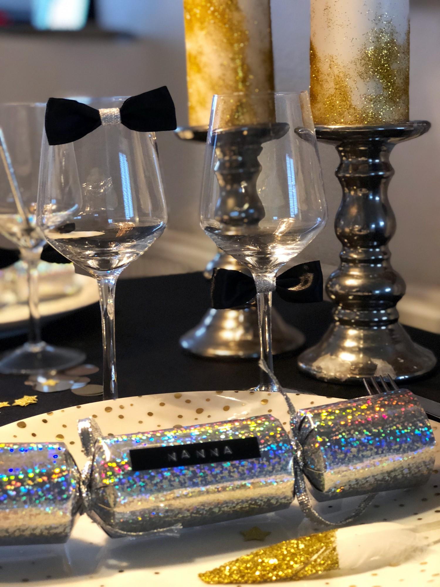 DIY nytårspynt til nytårsbordet