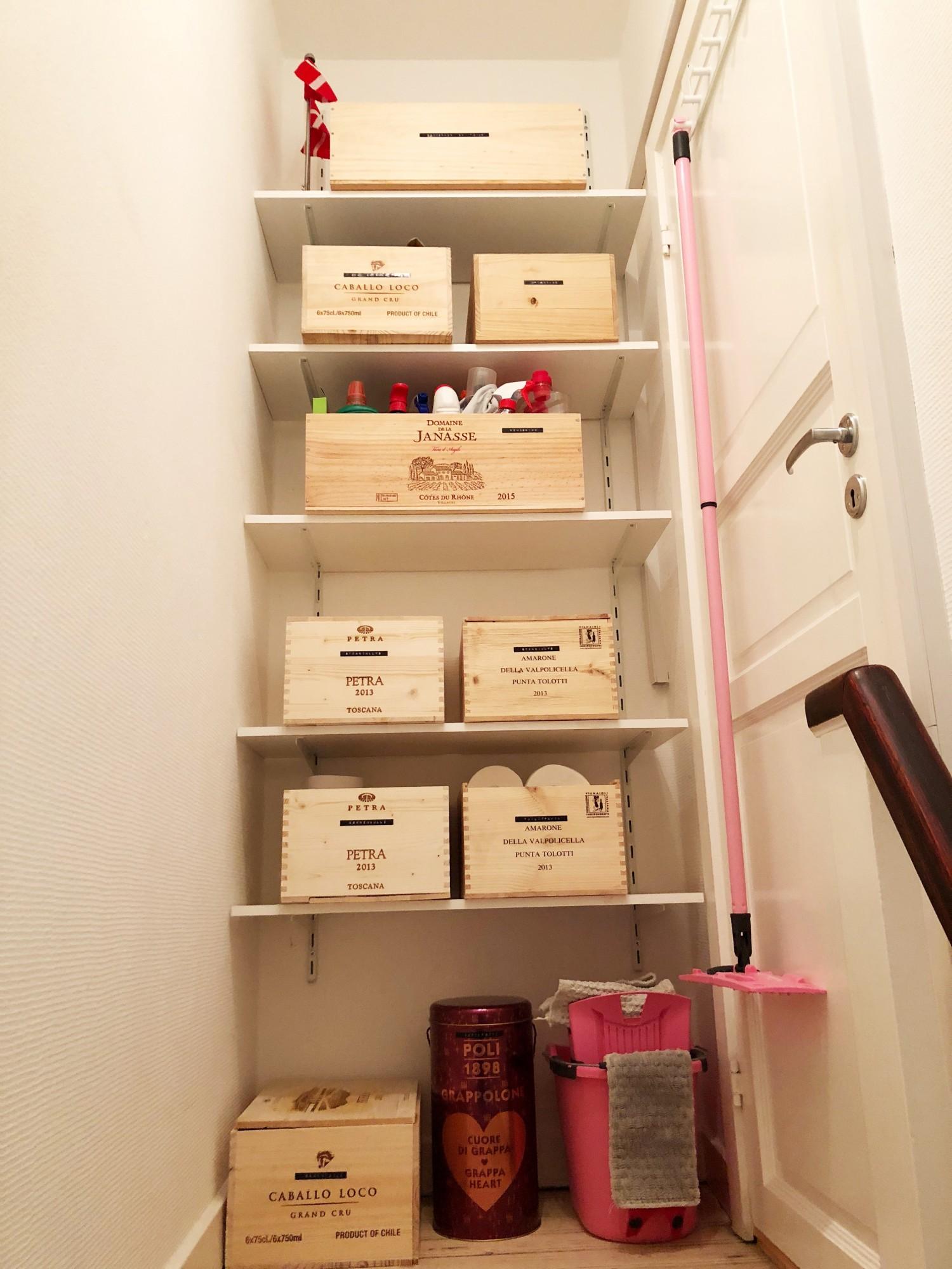 Organiser rod med vinkasser