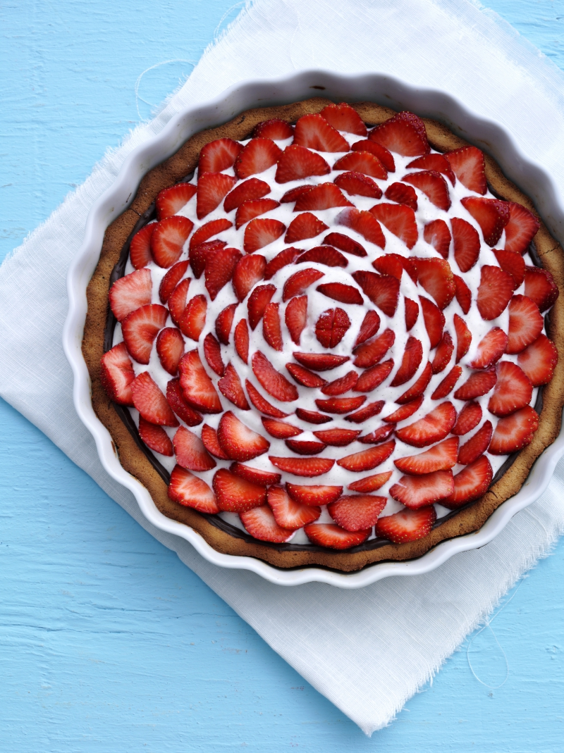 Jordbærtærte med ricottacreme
