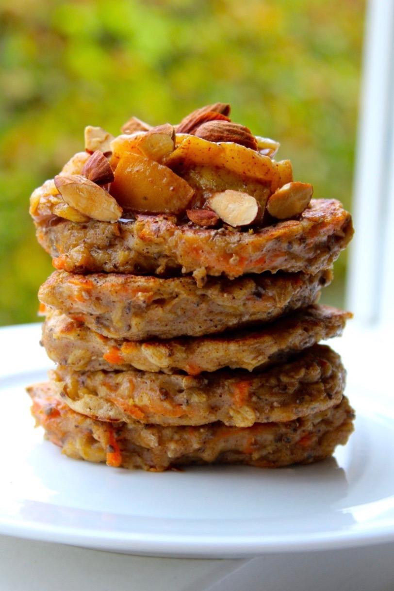 havregrødspandekager med gulerod