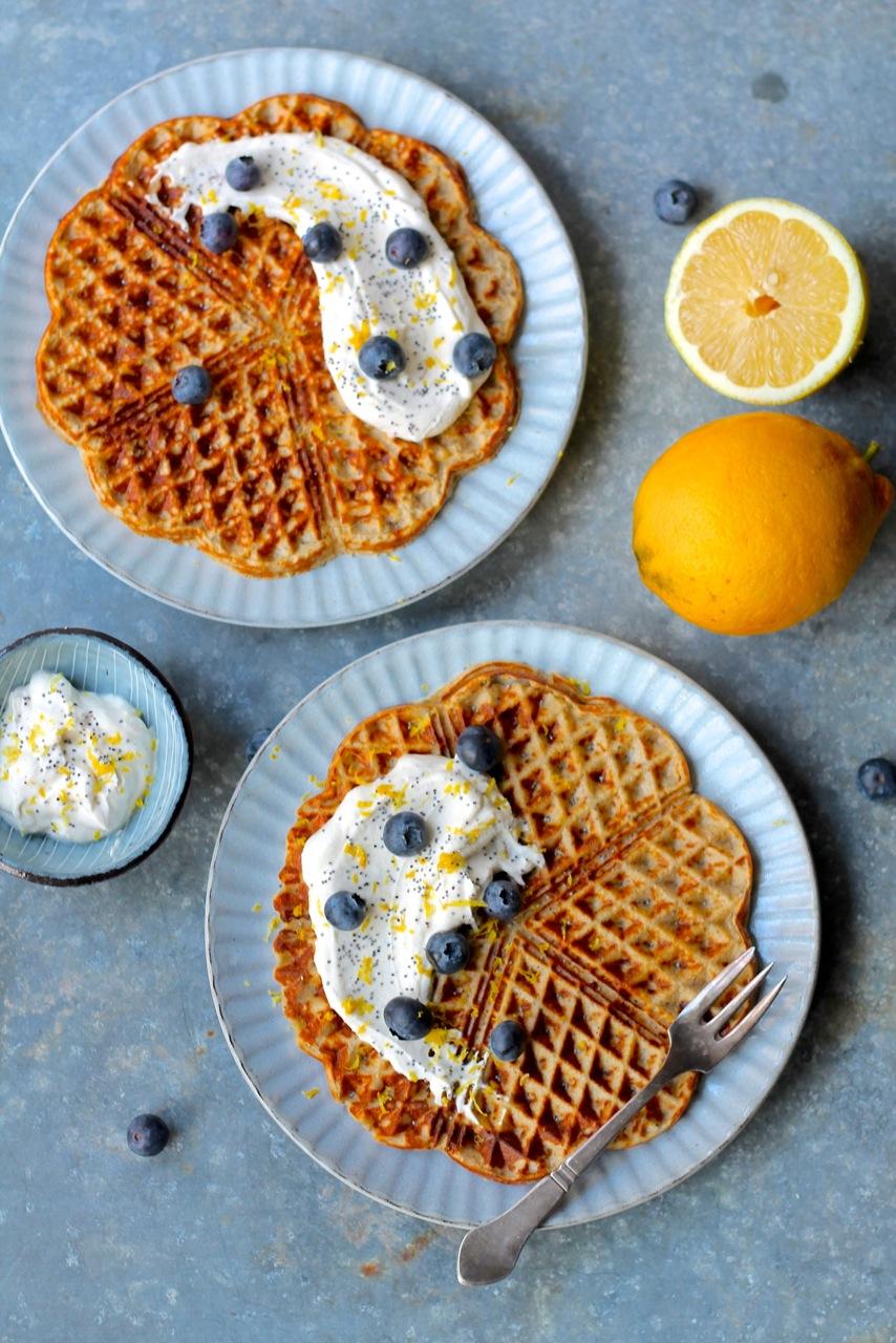 Vafler med citron og birkes