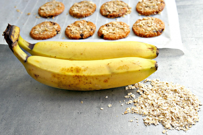 Banana-cookies lavet på to ingredienser - Cathrineyoga.dk