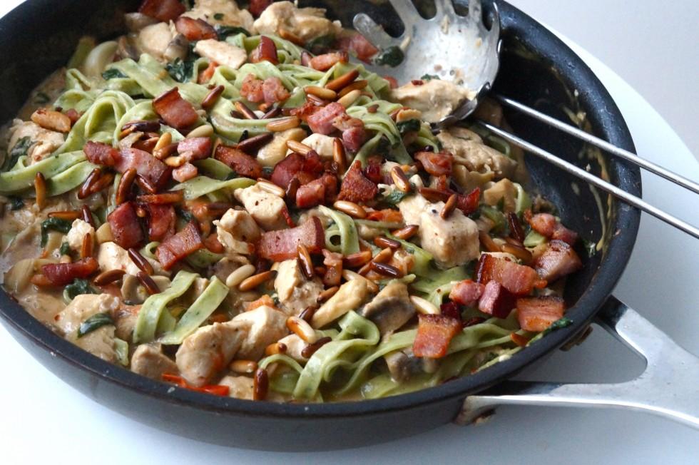 kylling pasta bacon