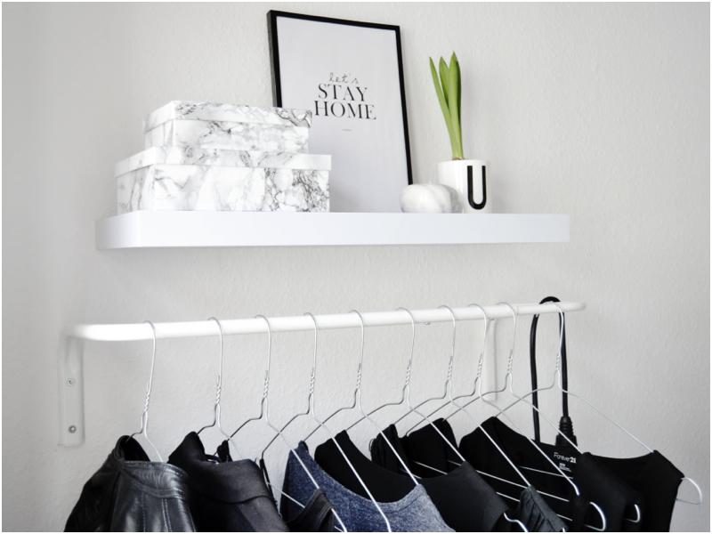 bøjlestang til væg home pics: my tiny clothing rack bøjlestang til væg