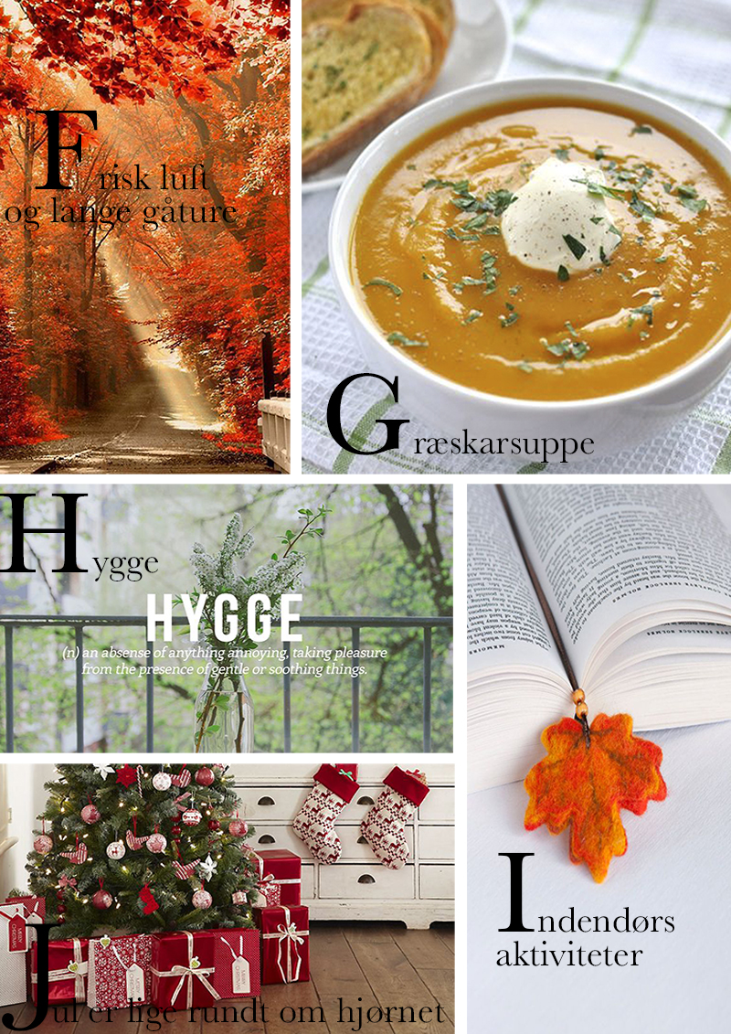 fall in love with fall autumn a-å liste alfabetet efteråret to do liste blog Amy Dyrholm hygge varm kakao græskarsuppe opskrift clean out your closet DIY