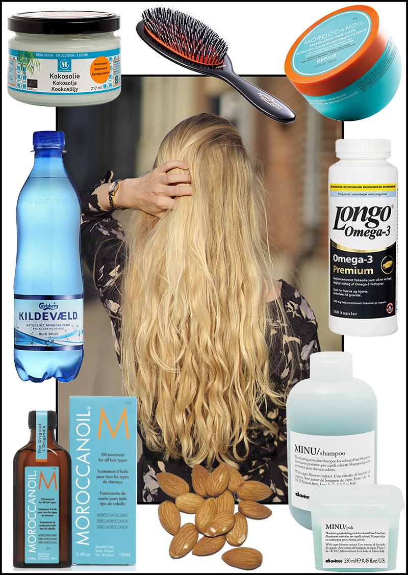 Olie i håret natten over
