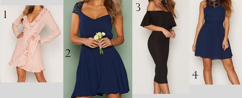 af24037c 1 - Lyserød kjole // 2 - Blå blonde kjole // 3 - Sort kjole // 4 - Mørkeblå  kjole // 5 - Sort kjole // 6 - Sort blond kjole // 7 - Rosa kjole //