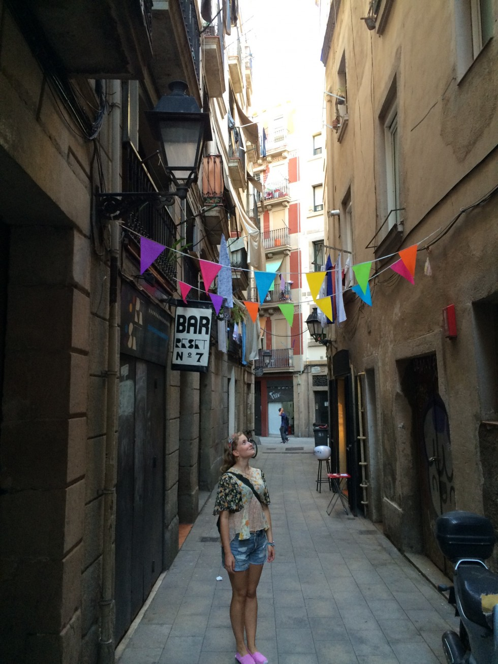 Beautiful streets of barcelona