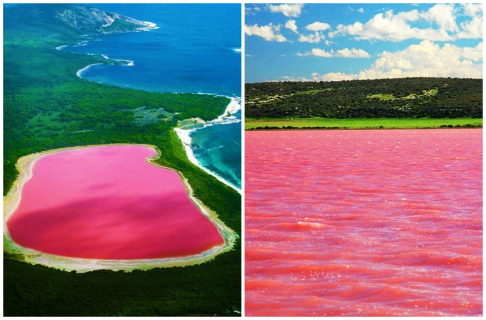 Five unusual places in this world lake hillier