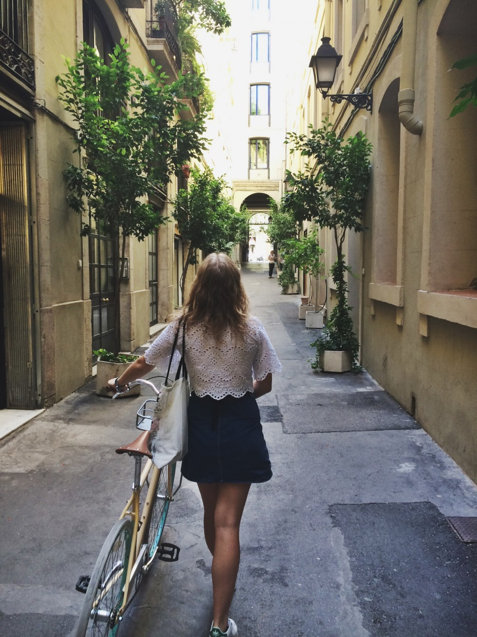 I rented a hipster bike in barcelona
