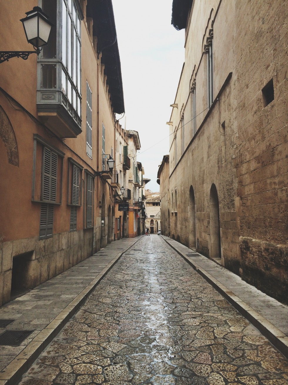 Old town in palma mallorca