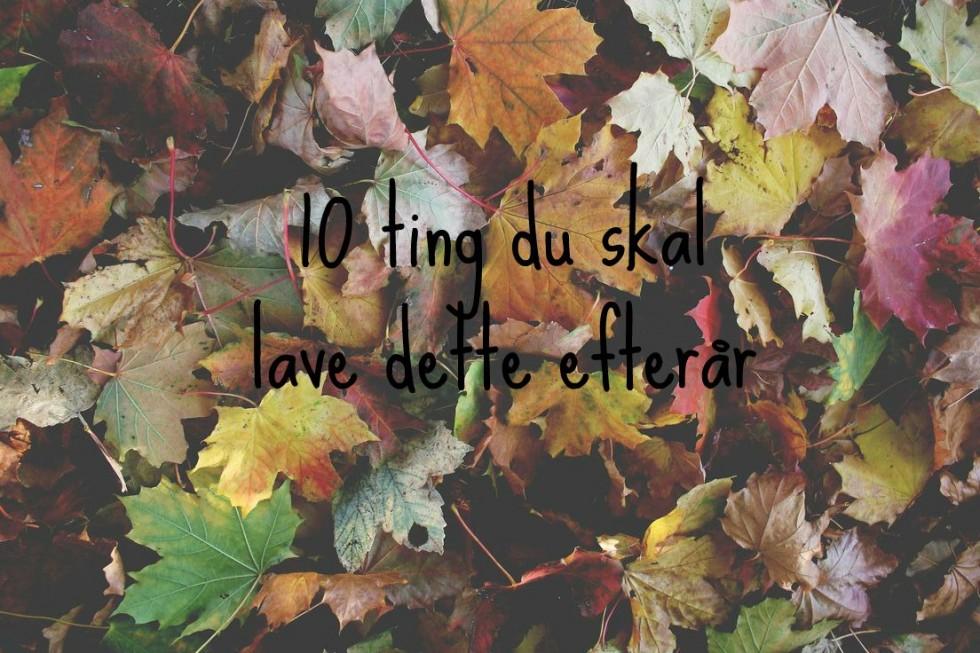 10 ting du skal lave dette efterår
