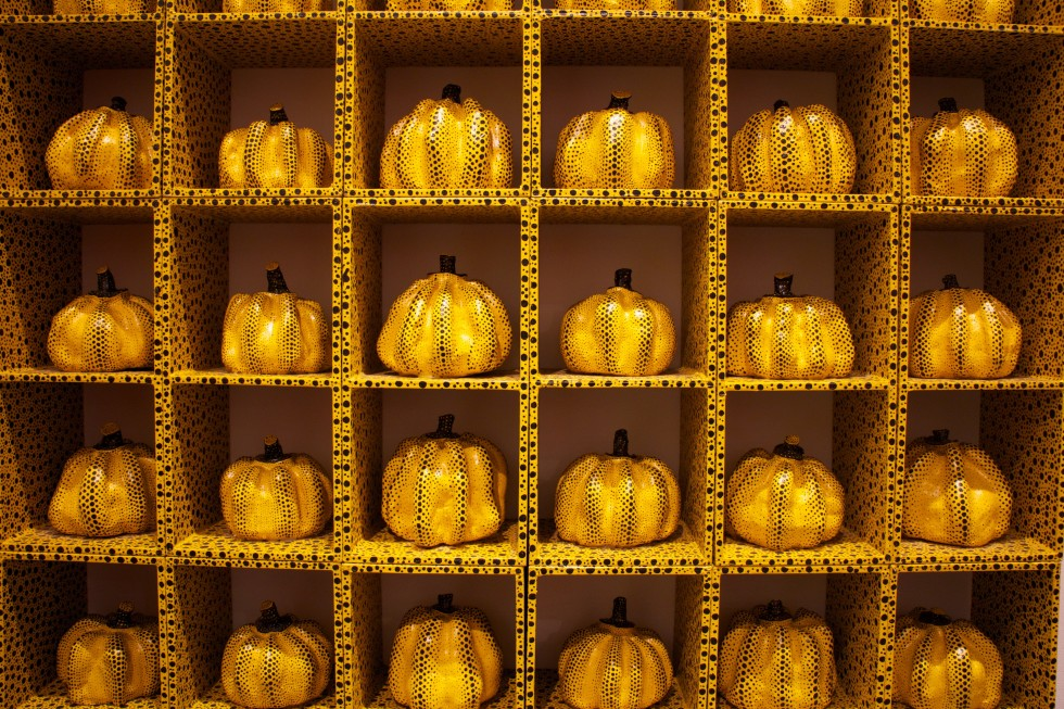Yellow art pumpkins