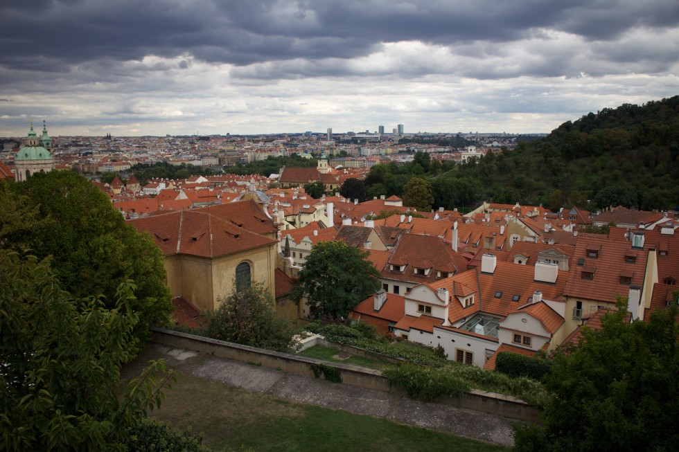 beautiful view over prague