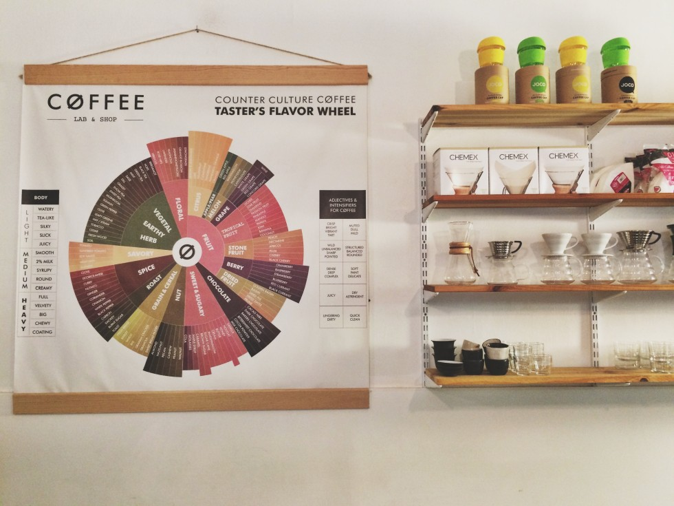 different kinds of coffee at nomad coffee barcelona