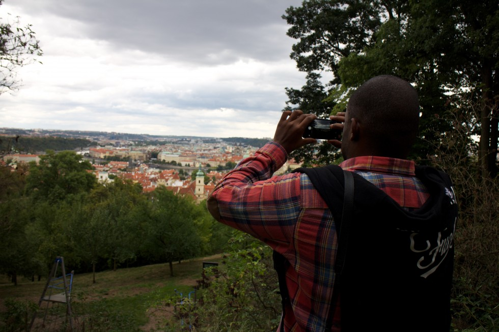 taking picture of prague
