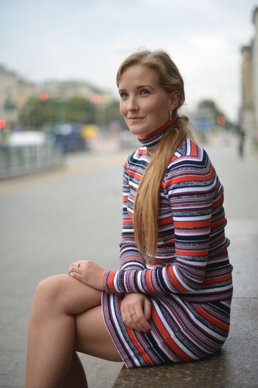 70ies striped outfit