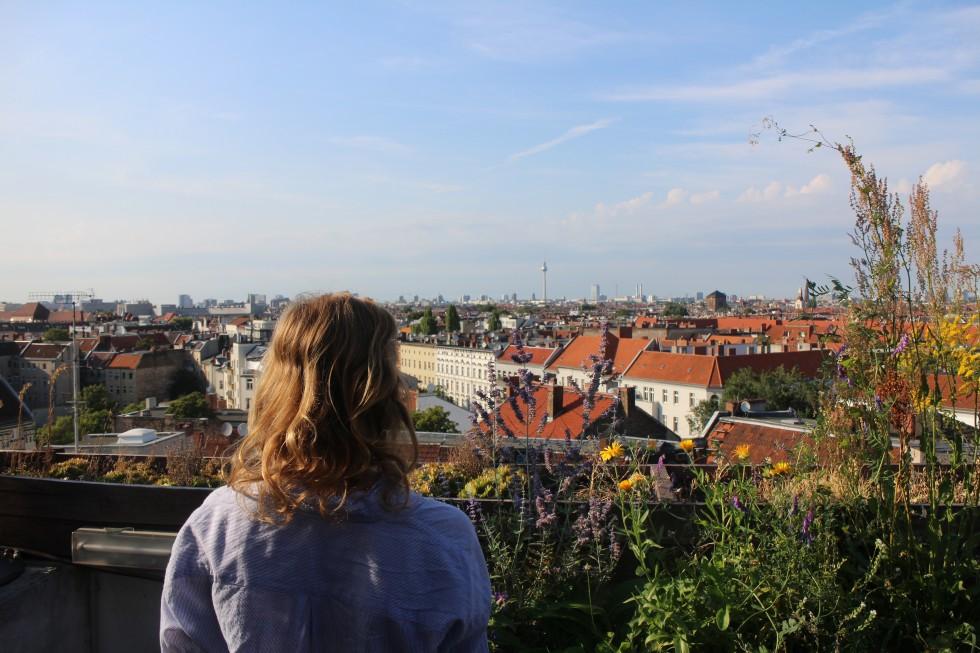 Hidden urban rooftop garden Berlin