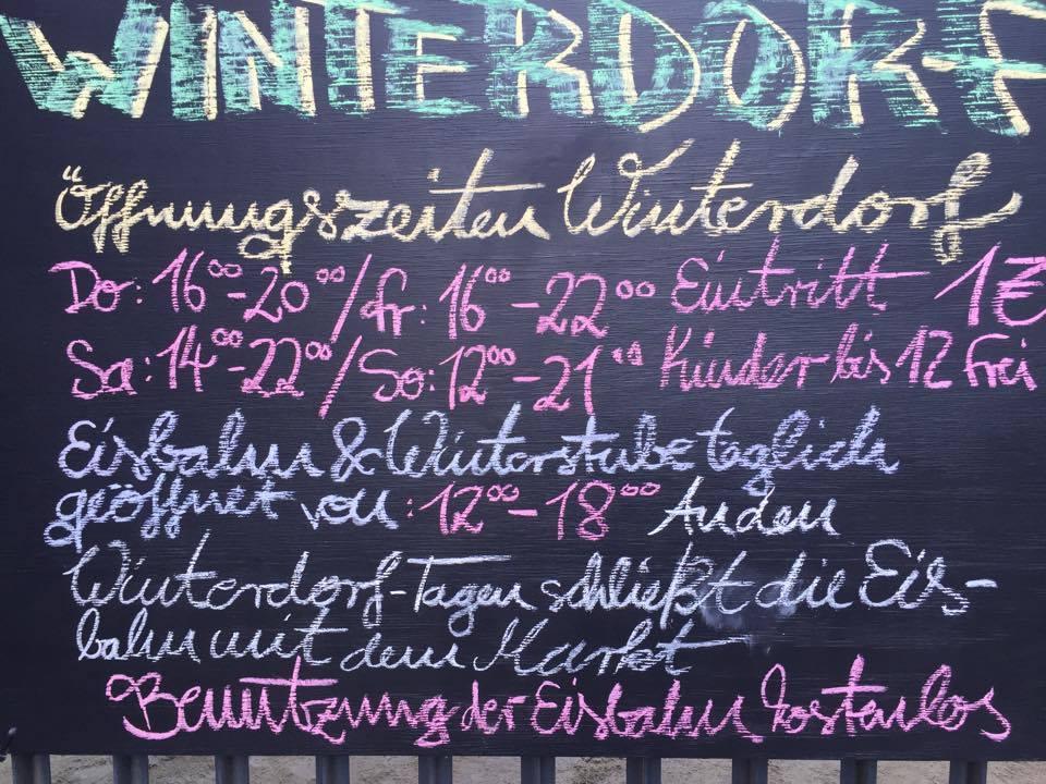 Winterdorf Berlin Christmas market at Badeschiff